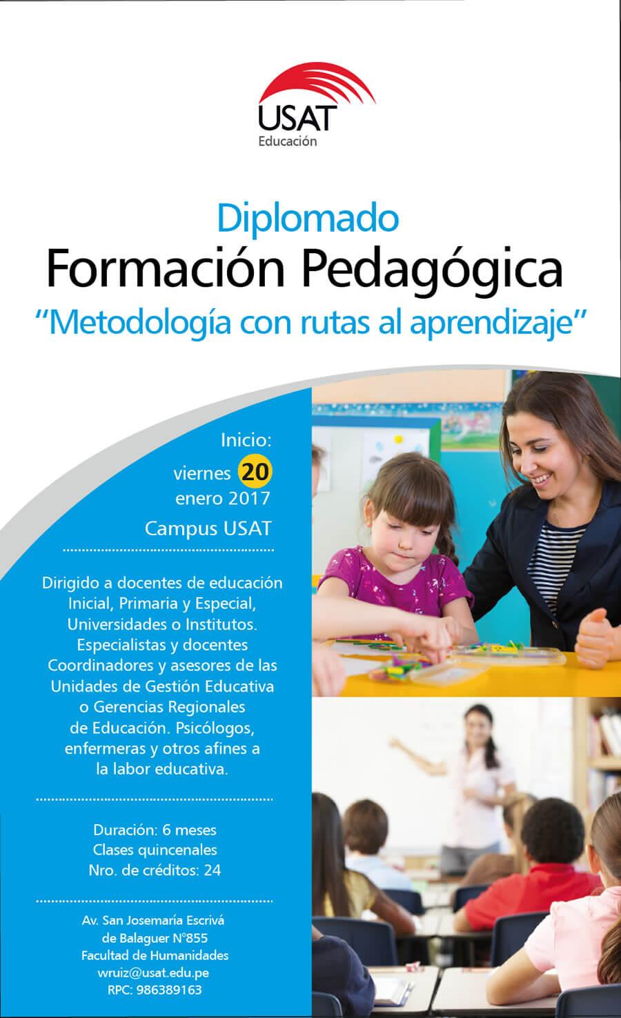 """Diplomado. Formación Pedagógica. """"Metodología con rutas de aprendizaje"""""""