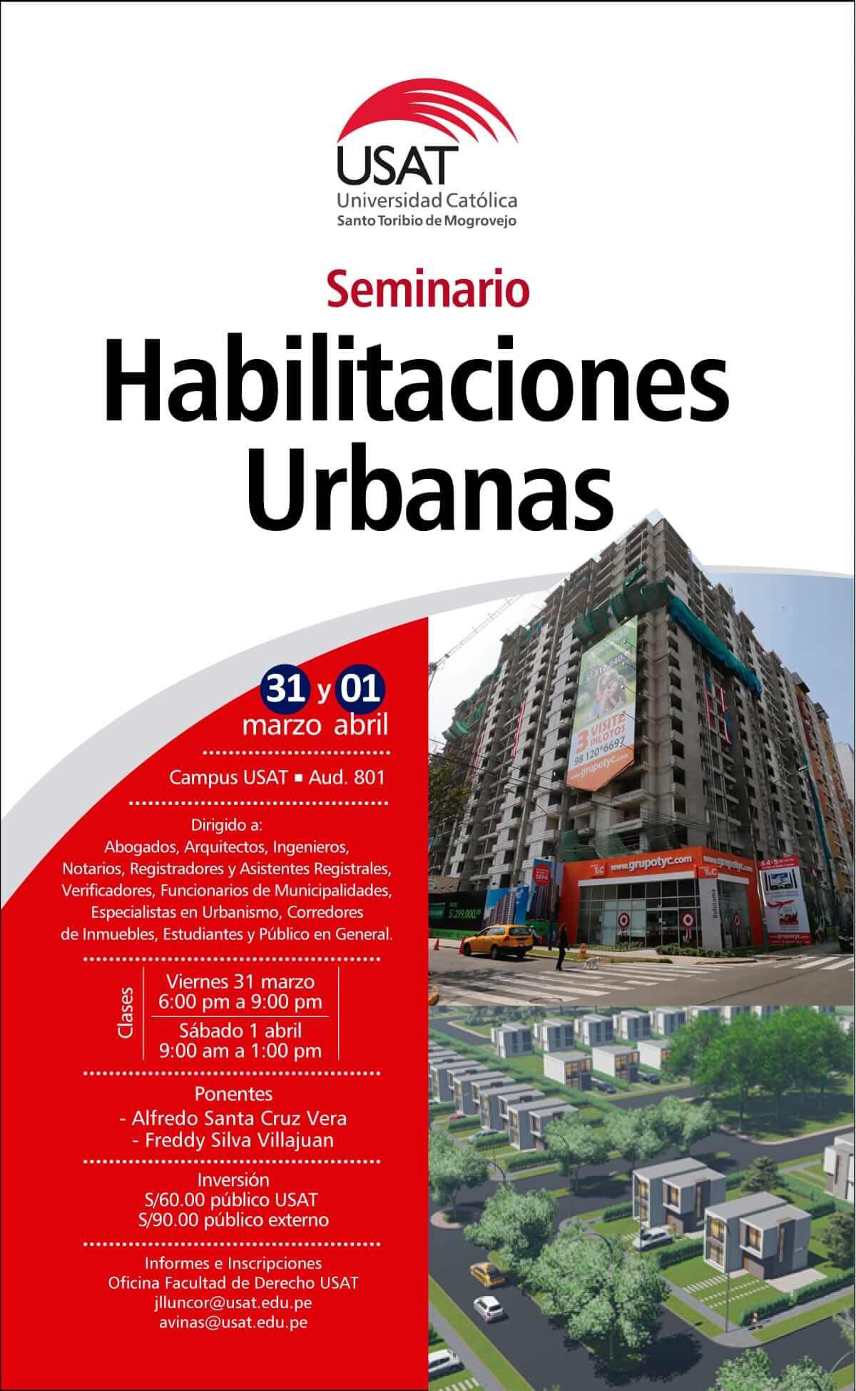 Seminario: Habilitaciones Urbanas