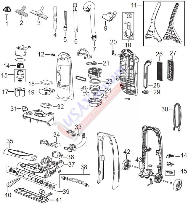 Bissell 89Q9 18Z6 Lift-Off Revolution Upright Vacuum Parts