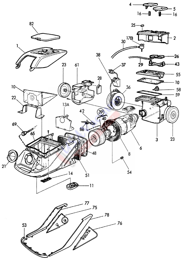 Eureka 6990 Excaliber Mega Canister Vacuum Cleaner Parts