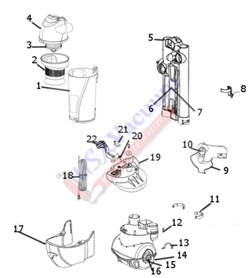 Eureka AS1000A Air Speed Bagless Upright Vacuum Parts
