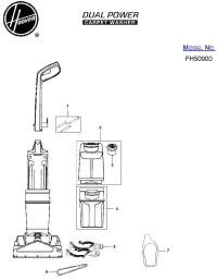 Hoover FH50900 Dual Power Carpet Washer Parts List ...