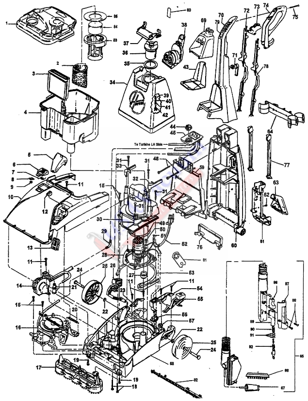 Rug Doctor Carpet Cleaner Parts Diagram Bissell Carpet