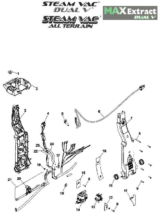 Hoover FH50050 SteamVac Dual V Carpet Washer Parts List
