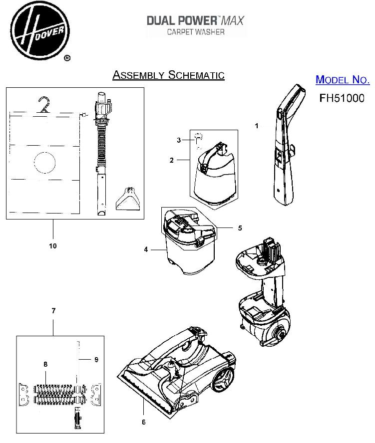 hoover windtunnel t series parts diagram ford falcon au wiring stereo schematic diagrams great installation of fh51000 dual power max carpet cleaner list rh usavacuum com omc