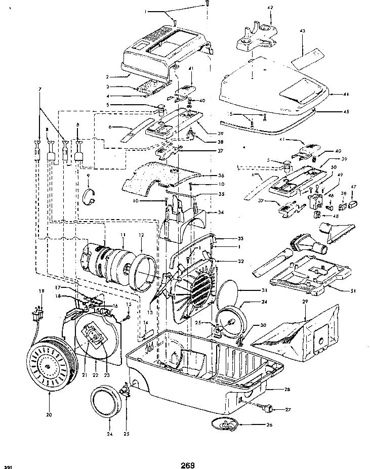 Hoover S3487 Spirit Canister Vacuum Parts List & Schematic