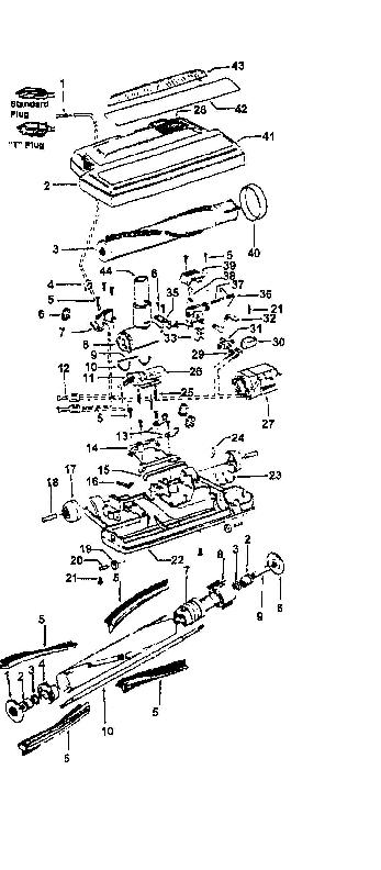 Hoover S3279 Dimension Canister Vacuum Parts List