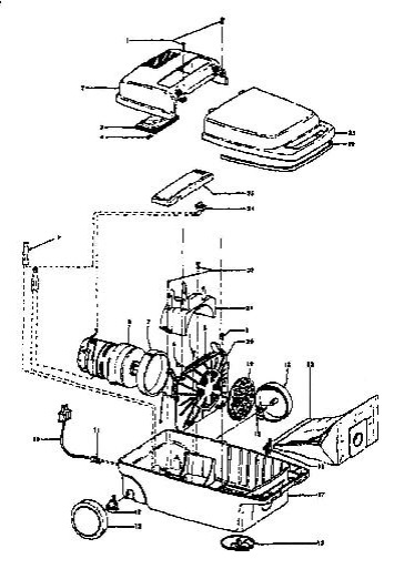 Hoover S3289 Spirit Canister Vacuum Parts List & Schematic