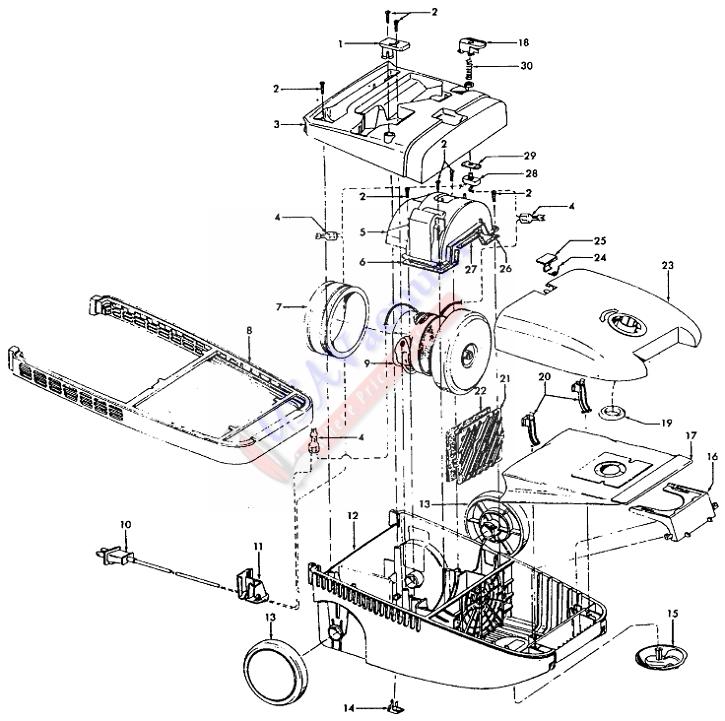 Vacuum Parts: Hoover Canister Vacuum Parts