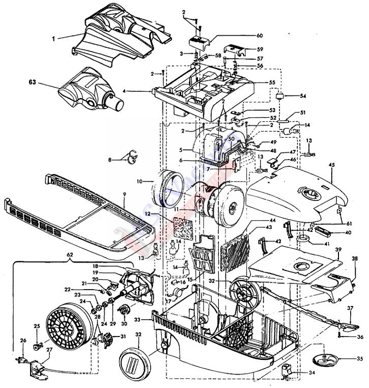 Vacuum Parts: Hoover Wind Tunnel Vacuum Parts