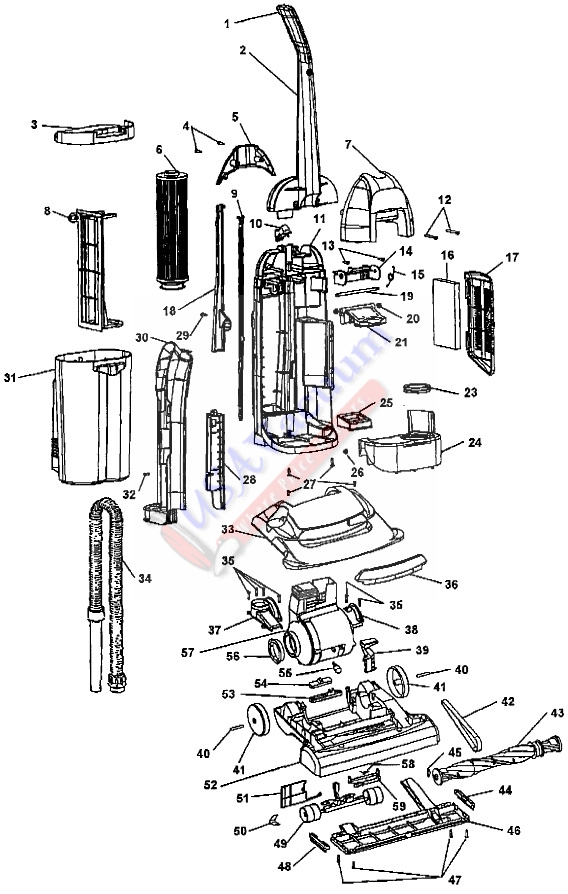 Hoover U5280, U5288, U5294, U5296 WindTunnel Bagless