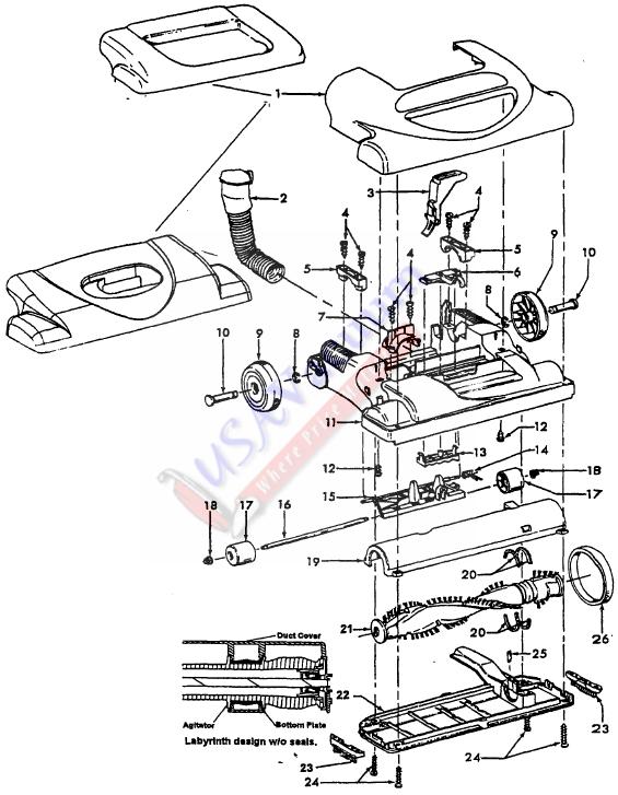 hoover vacuum cleaner wiring diagram