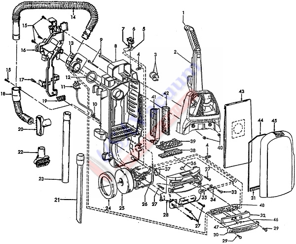 Hoover U5420 WindTunnel TurboPOWER Upright Vacuum Cleaner