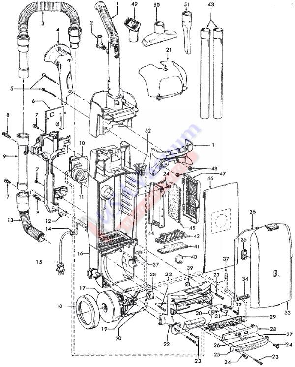 Hoover U5468-900 WindTunnel Supreme Bagged Upright Vacuum