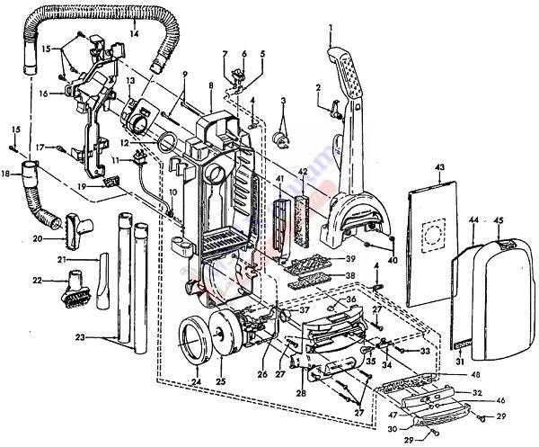 Hoover U5469 WindTunnel TurboPOWER Upright Vacuum Cleaner