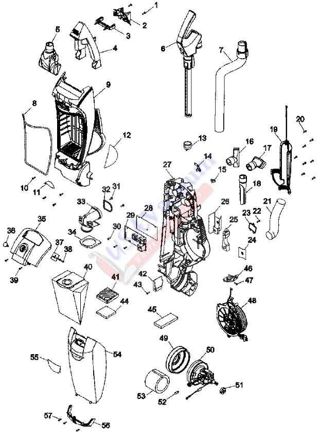 Hoover UH30065 WindTunnel 2 Bagged Upright Vacuum Parts