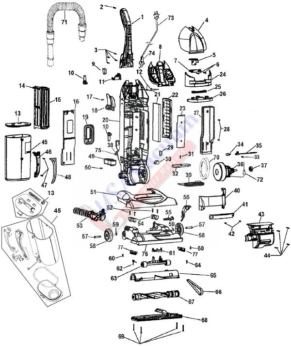 Vacuum Parts: Vacuum Parts Hoover Windtunnel
