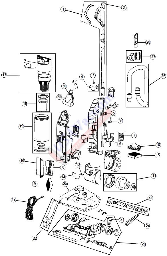 base diagram parts list for model uh60010 hooverparts vacuumparts