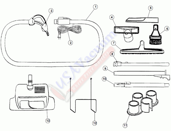 Hoover S5694 Platinum Central Vac System Accessory Kit
