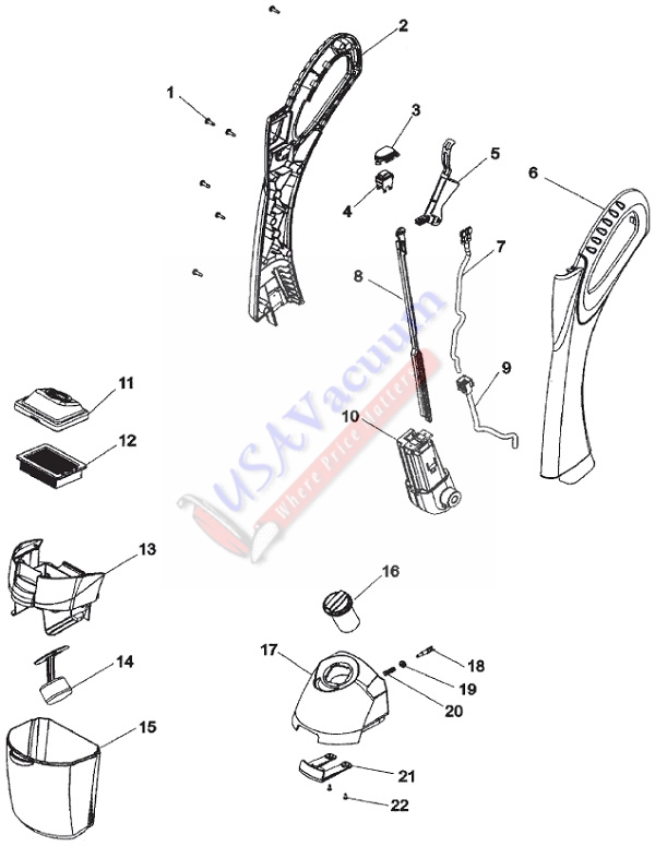Hoover H3044 FloorMate SpinScrub WidePath Parts List