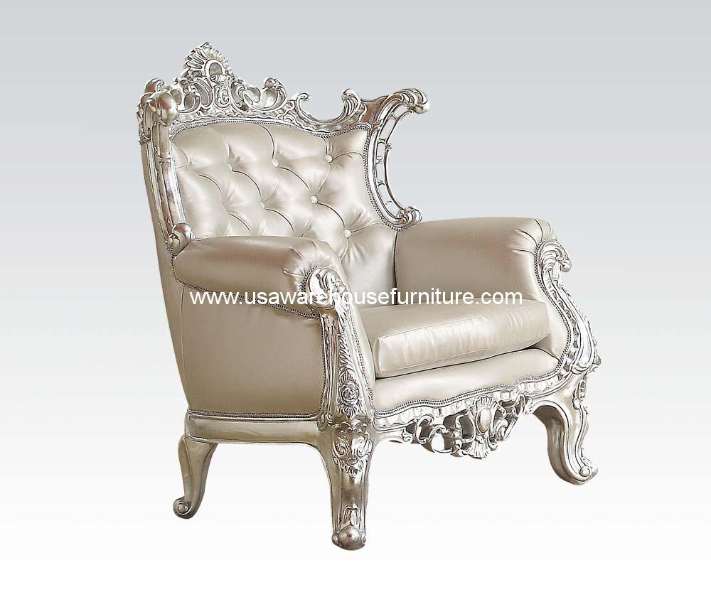 Accent Chair Silver Frame