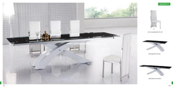 Dining-Room-Furniture_Modern-Dining-Sets_8420-Table-and-8273-Chairs-