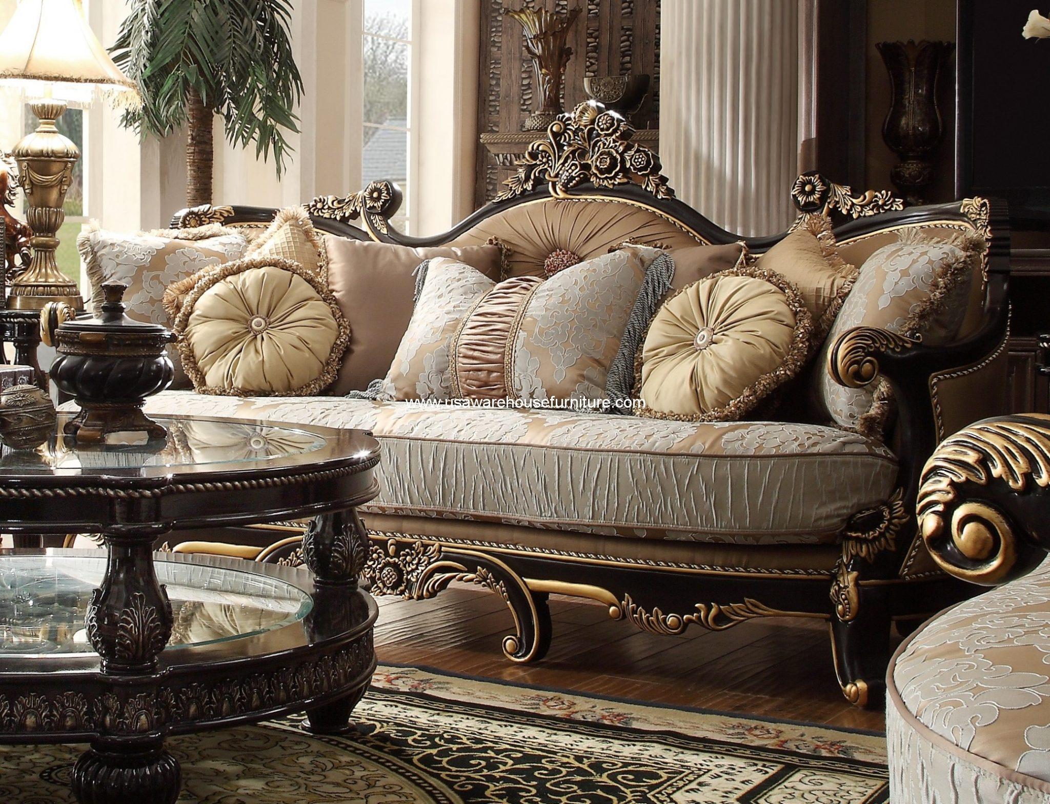 fancy sofa set design pottery barn bed homey hd 551 luxury fabric loveseat usa warehouse