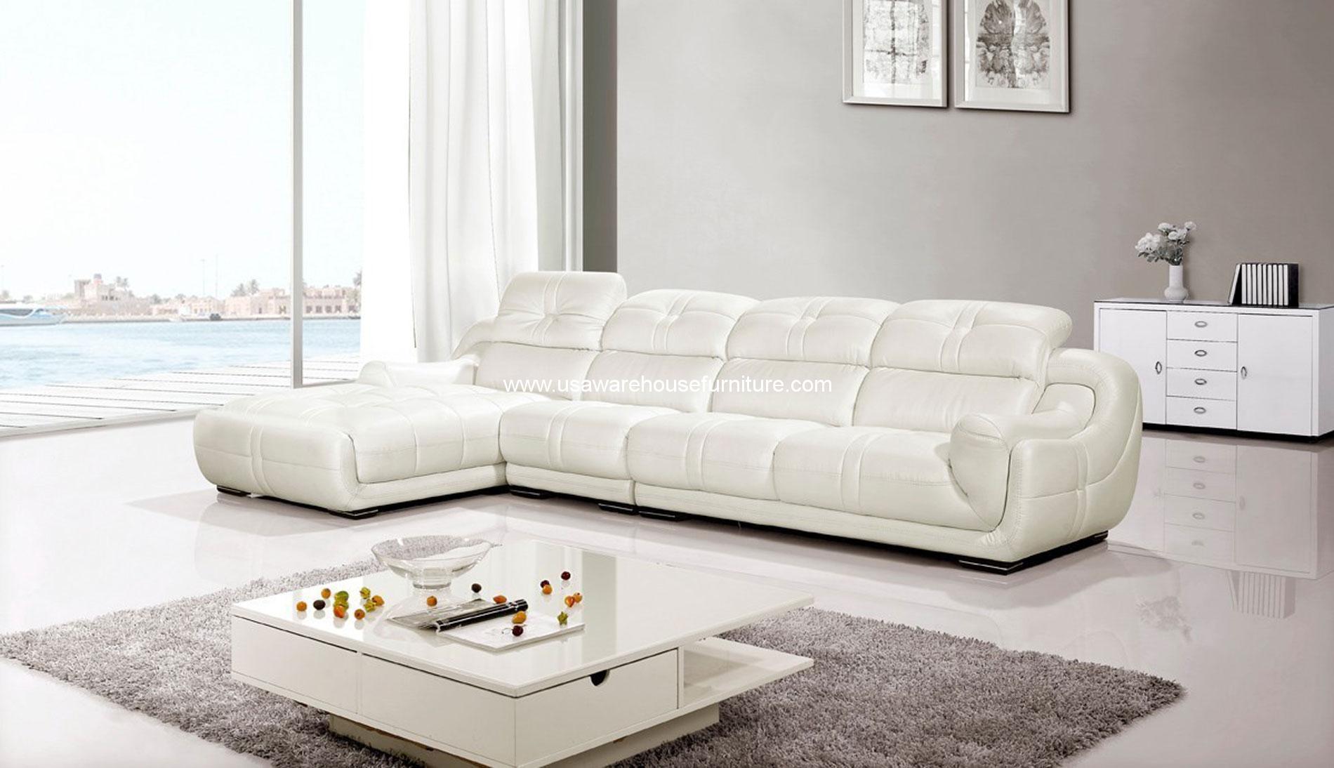 3 piece white leather sofa set s shaped brio genuine sectional w