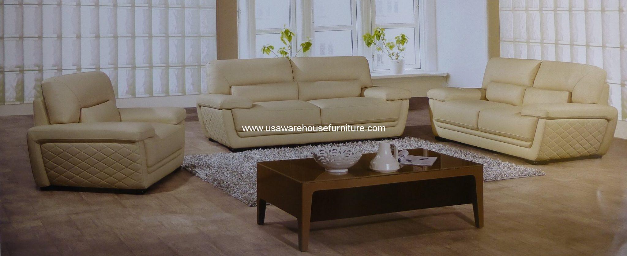 3 piece white leather sofa set navy blue futon bed clark italian top grain cream modern