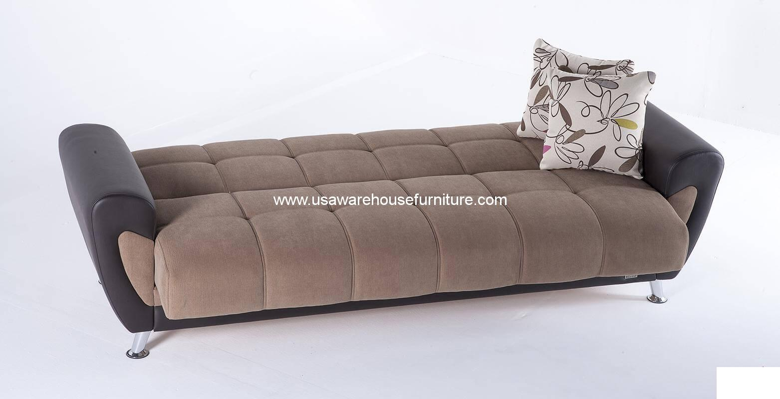 sleeper sofa bed corner that turns into a demka duru optimum brown usa warehouse