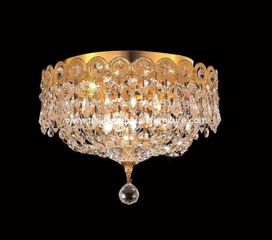 3 Lights Flush Mount Chandelier 1900 Century Collection