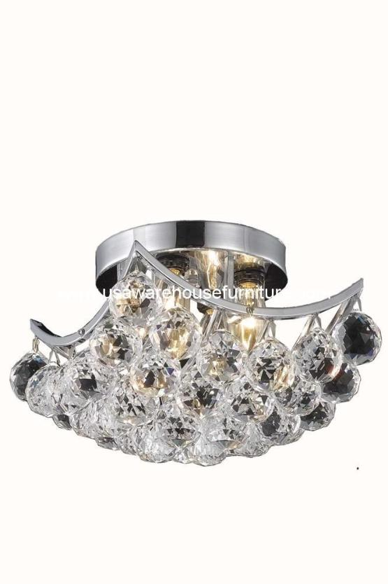 4 Lights Flush Mount Chandelier 9800 Corona Collection