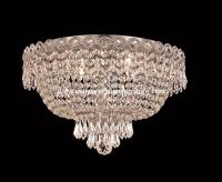 "4 Lights Flush Mount 16"" Crystal Chandelier 1900 Century ..."