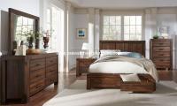 4 Piece Meadow Solid Wood Storage Bedroom Set - USA ...
