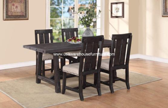 Yosemite Solid Wood Back Chair Dining Set