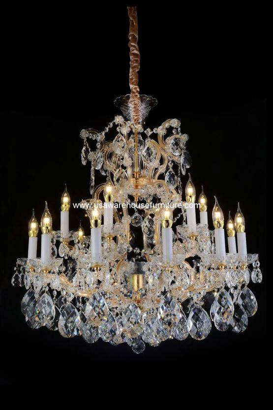 Michael Amini 19 Light San Carlo Chandelier Clear Glass
