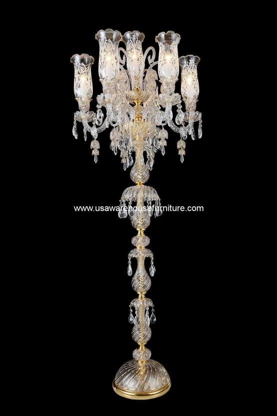 Michael Amini 7 Light Garnier Floor Lamp