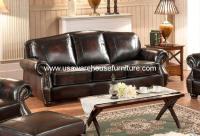 Hyde 100% Full Genuine Leather Sofa - USA Warehouse Furniture