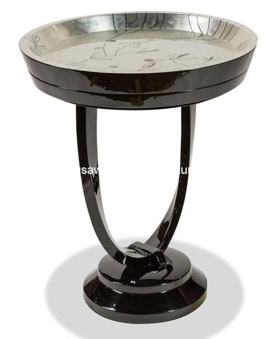 Illusion Accent Round Chair Side Table