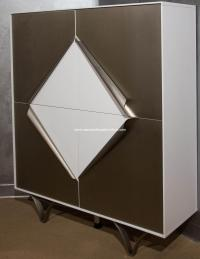 Michael Amini Trance Matrix White Display Cabinet