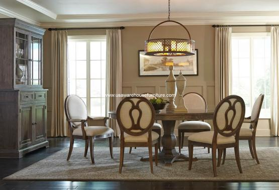 St. Germain Round To Oval Dining Set