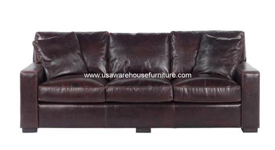 Cameron Cocoa Leather Sofa