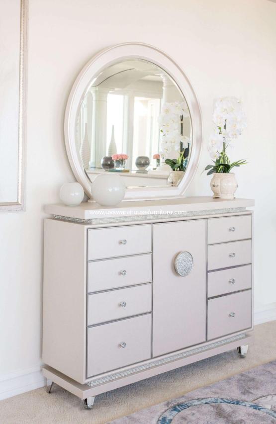 Michael Amini Glimmering Heights Drawer Dresser
