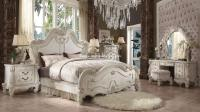 5 Piece Versailles Traditional bedroom Set Bone White ...