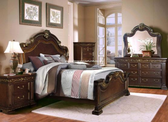 B538 Monaco Bedroom Set In Brown Finish