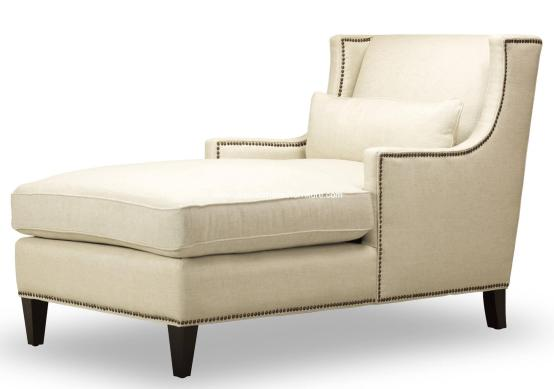 Ava Chaise Natural Fabric