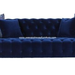 Electric Blue Velvet Sofa Index Furniture Bed Marco Tufted In Navy H195218 Usa