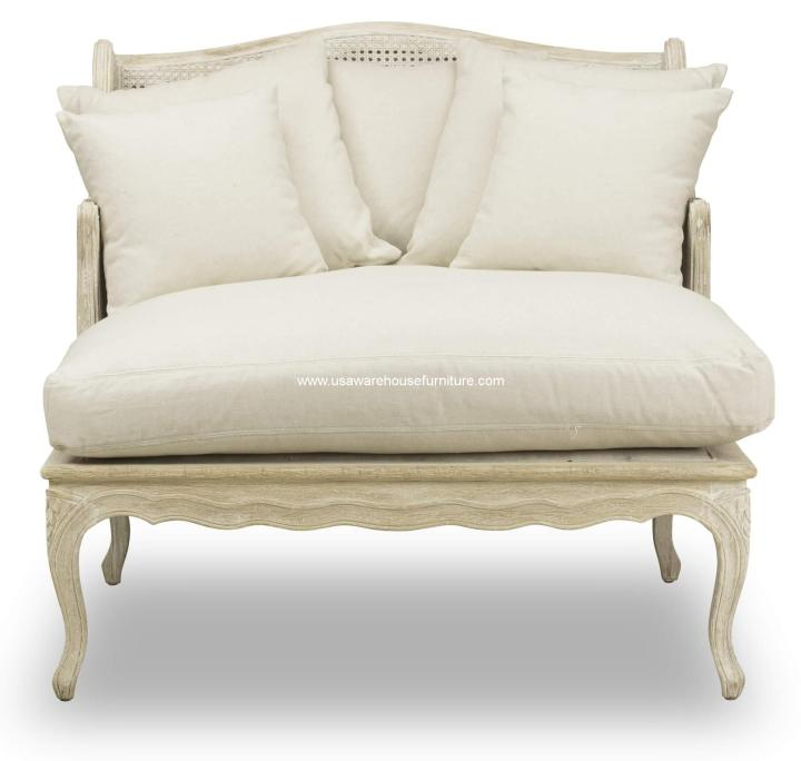 Wallace Salon Chair Light Linen Fabric