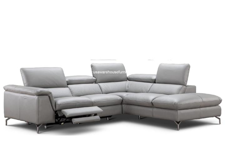 Viola Premium Grey Leather Sectional