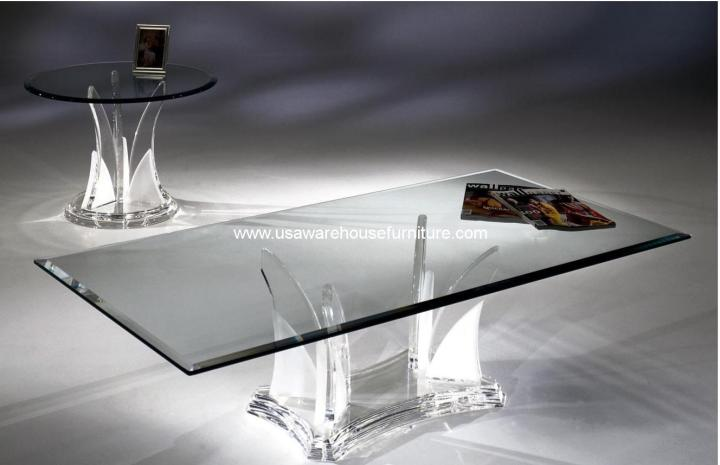 Acrylic Butterfly Coffee Table